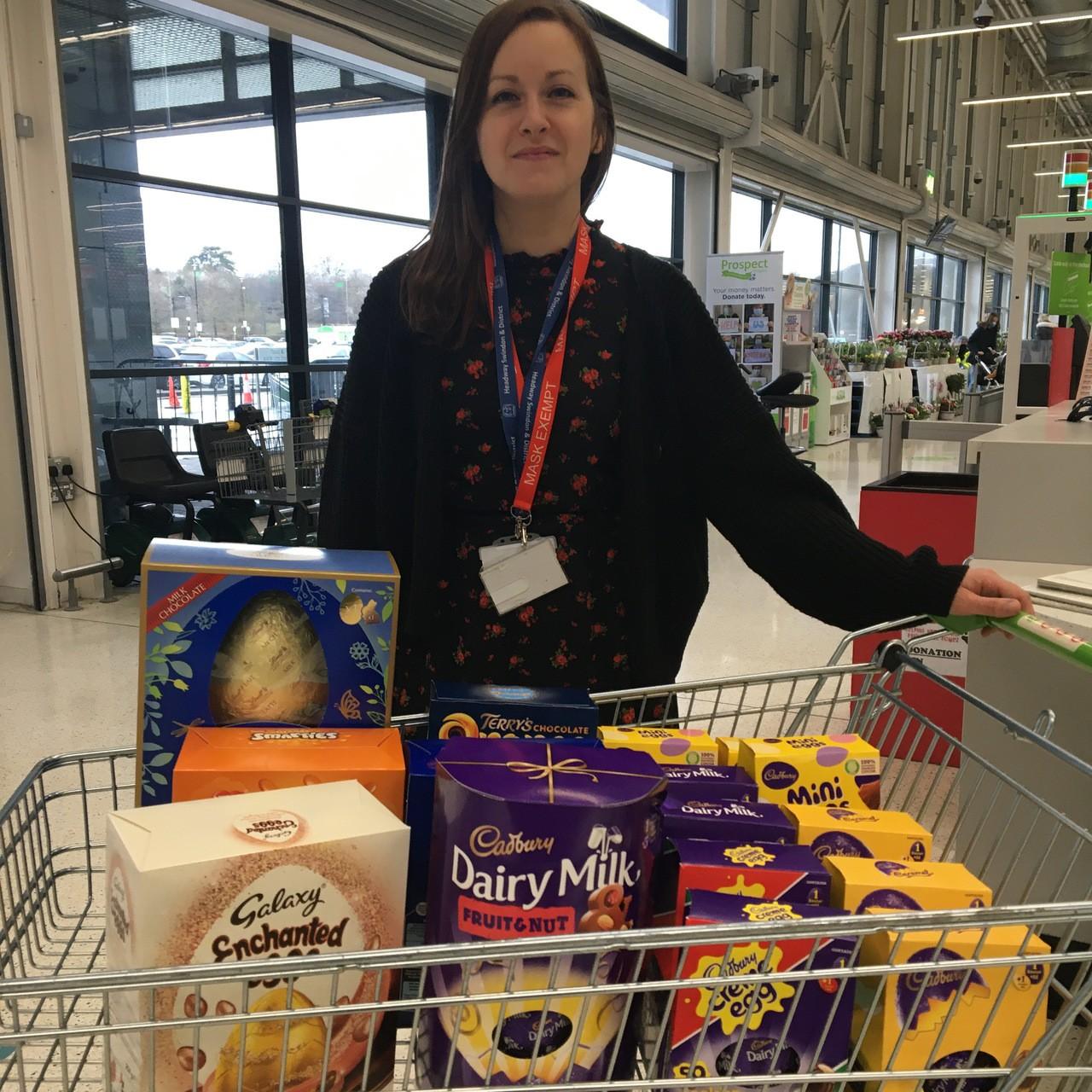 Donation to Headway Swindon   Asda Swindon Haydon