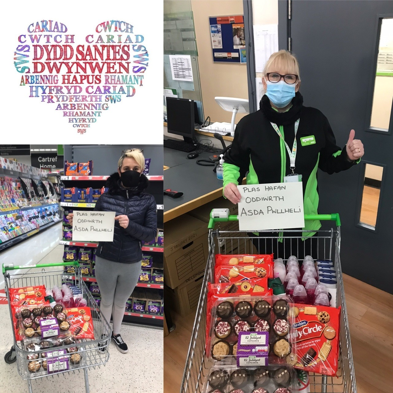 Celebrating Santes Dwynwen  | Asda Pwllheli