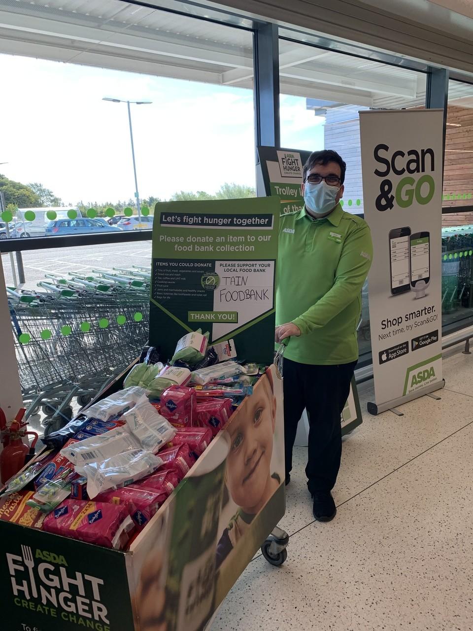 Foodbank support | Asda Tain