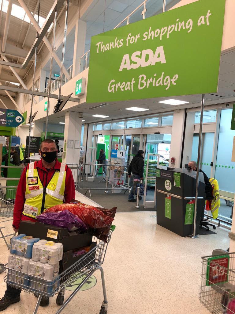 Blood Bikers donation | Asda Great Bridge