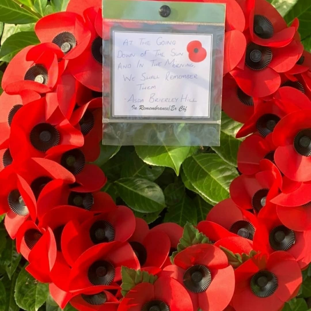 Remembrance wreath laying | Asda Brierley Hill