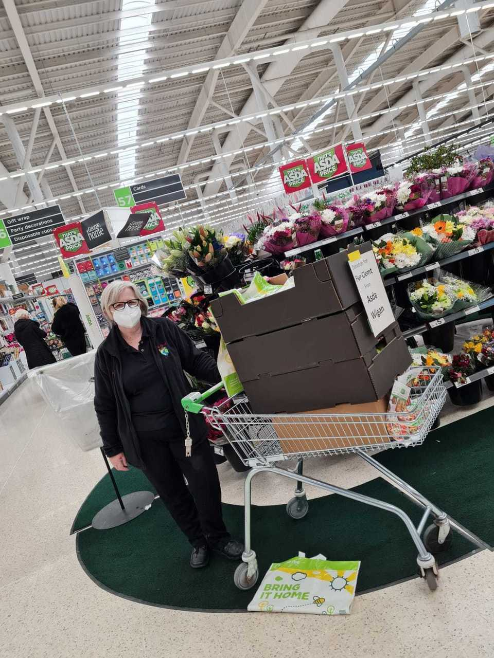 Supporting local community food project   Asda Warrington