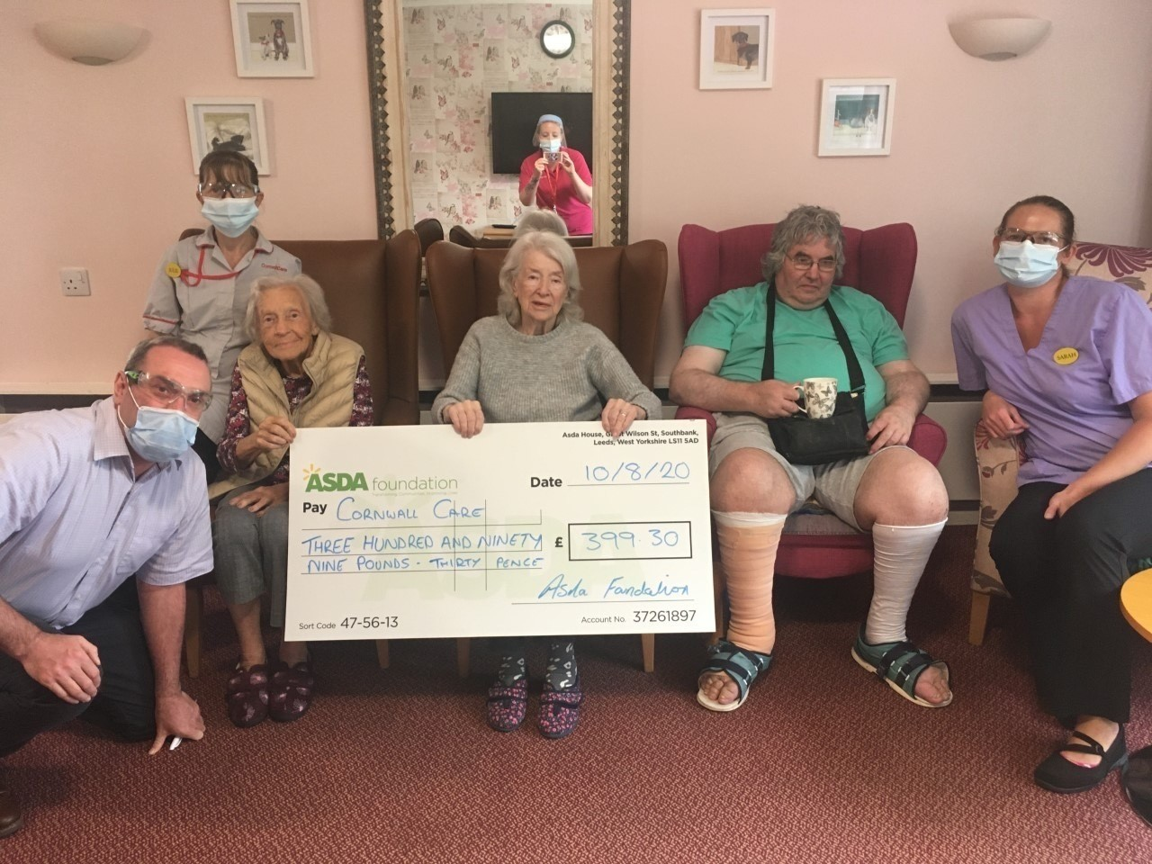 Covid-19 grant to Woodland Road Care Home | Asda St Austell
