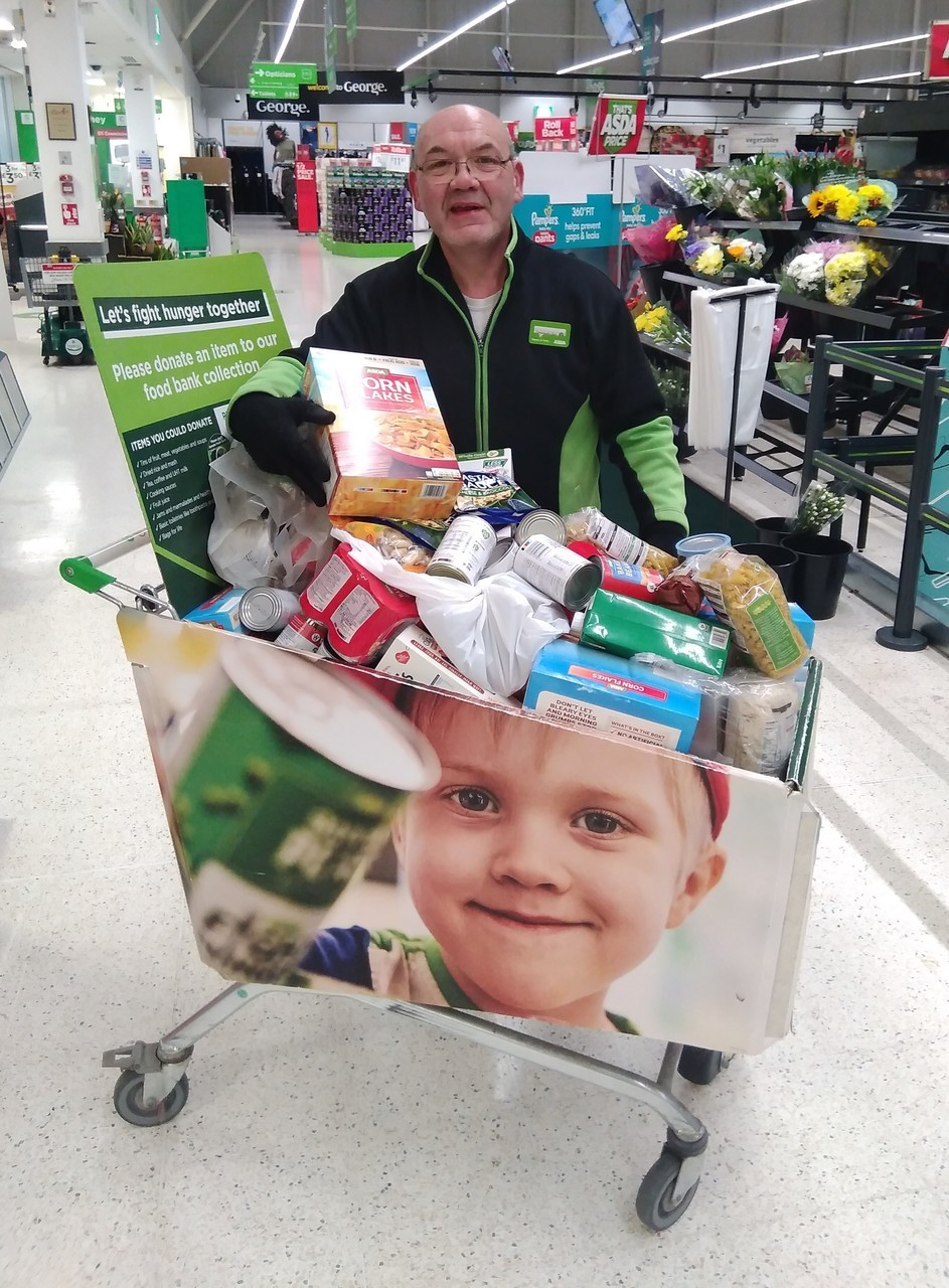 Customers support local foodbank | Asda Stafford
