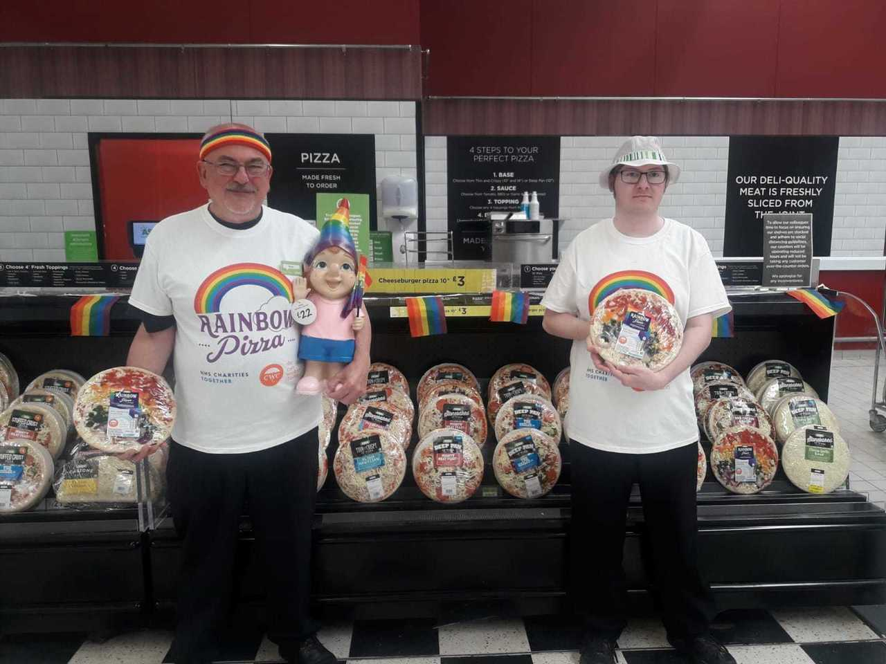 Rainbow pizza supporting the NHS and the care workers available in store  | Asda Swindon Haydon