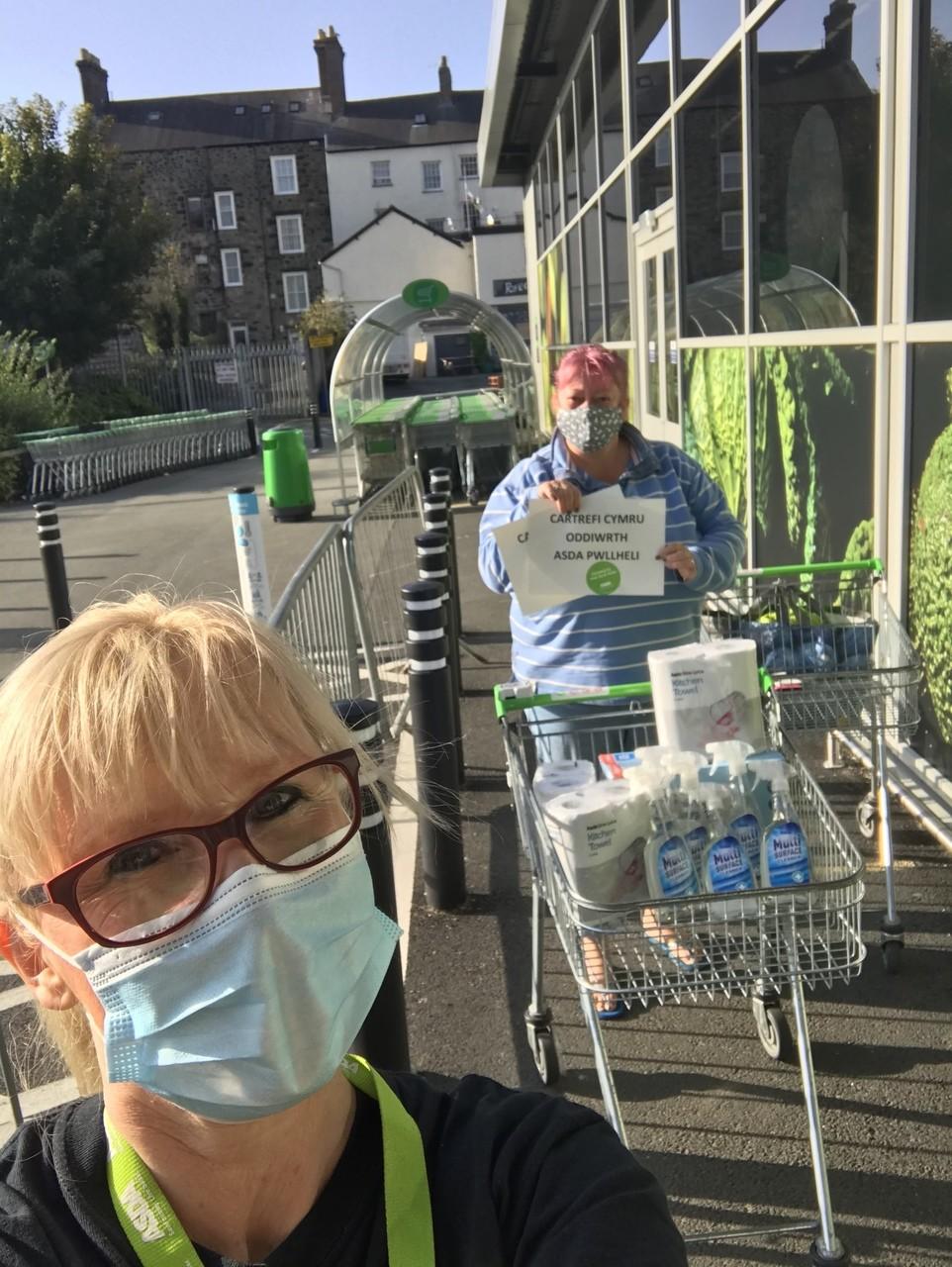 Social distance Selfies | Asda Pwllheli