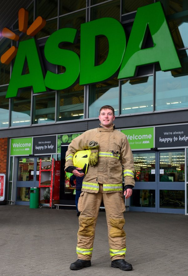 Asda Biggleswade colleague and firefighter James Luff
