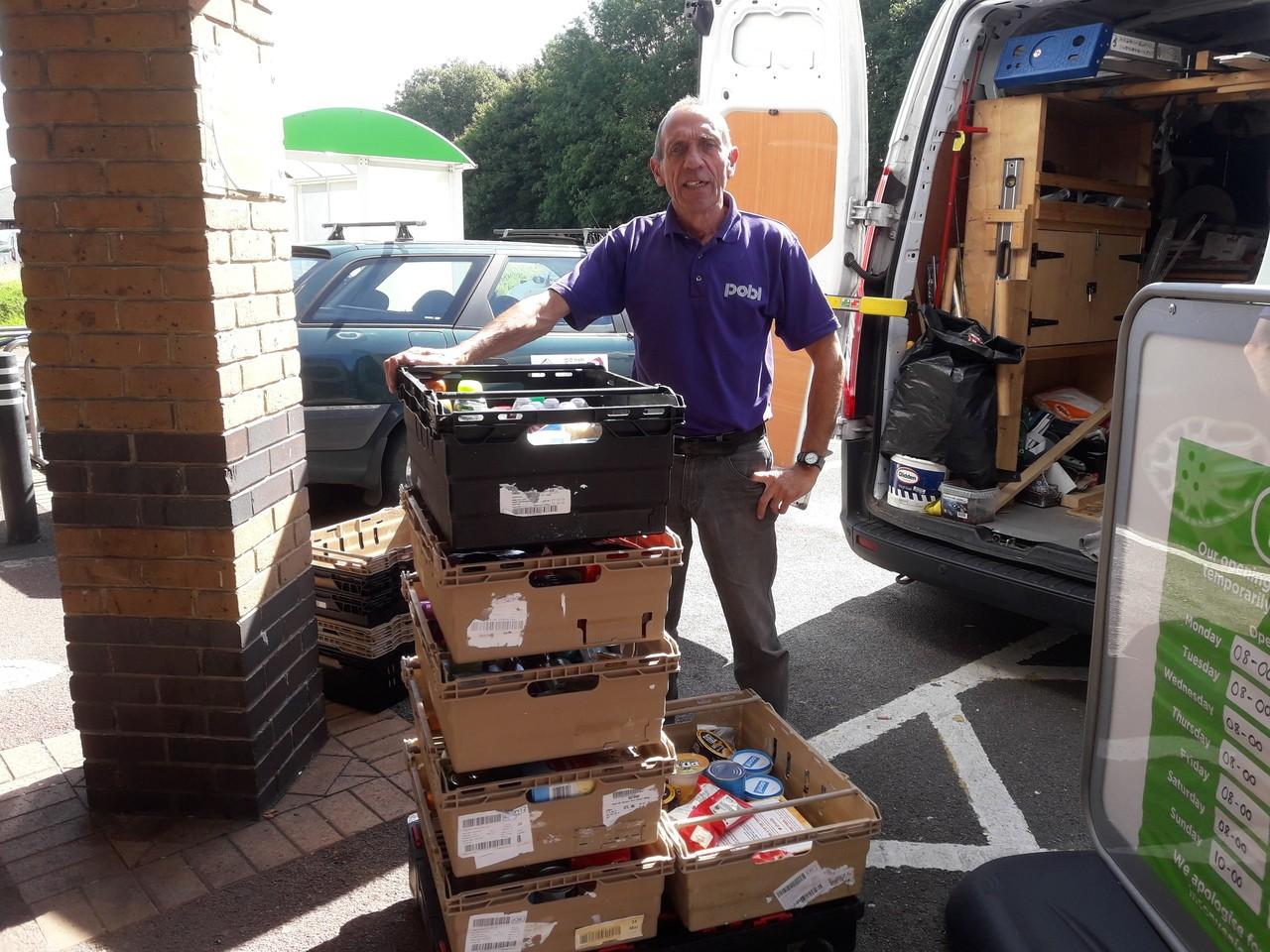 Collection for Newport Foodbank | Asda Newport