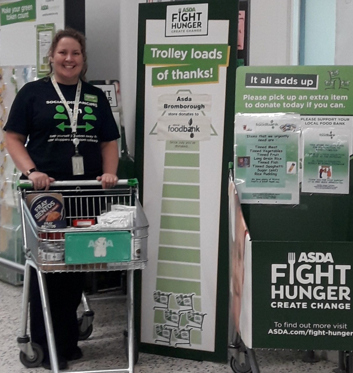 Fight Hunger Create Change donation  | Asda Bromborough
