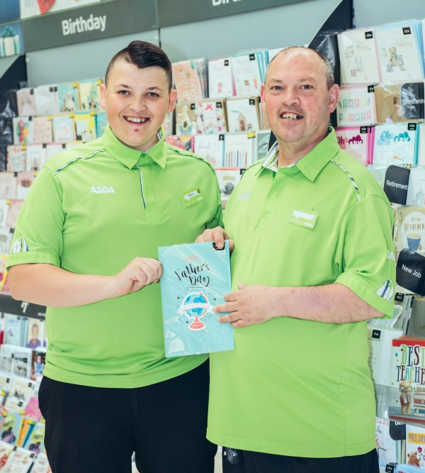 Father and son colleagues Aaron and Trevor Wilson at Asda Ballyclare