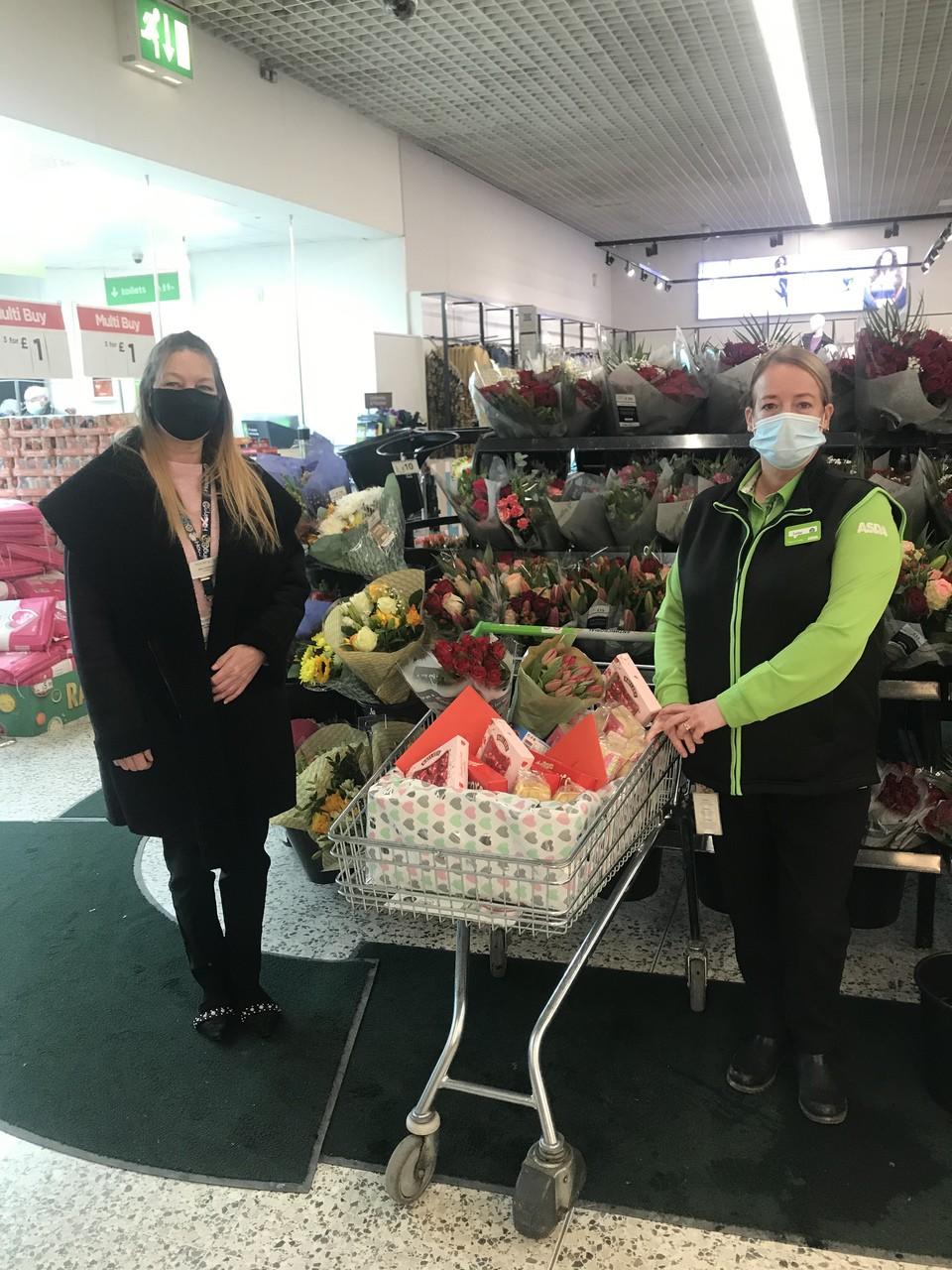 Valentine's treats for care home | Asda Blackburn