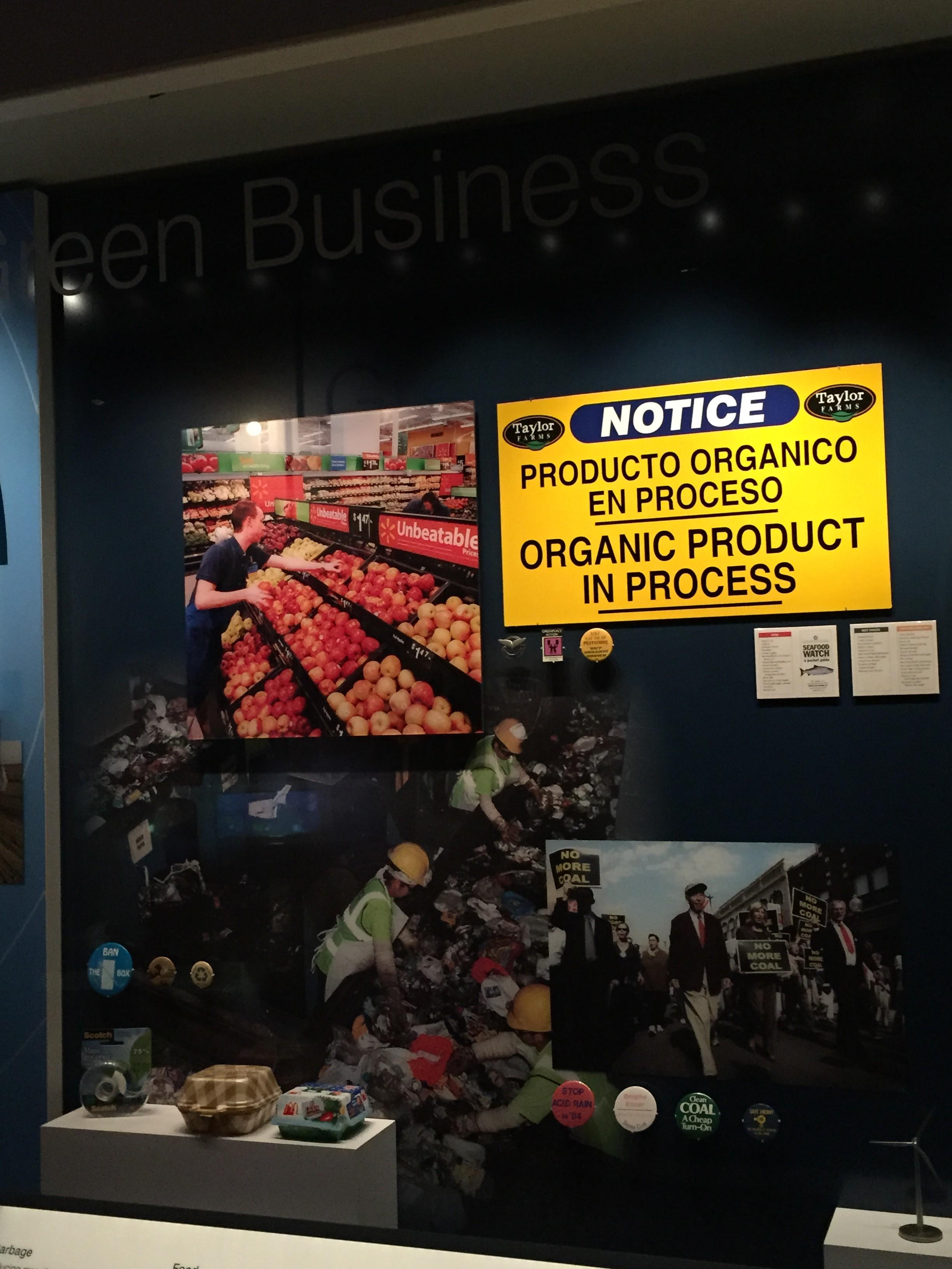 Photo of Walmart Organic Produce at Smithsonian Exhibit