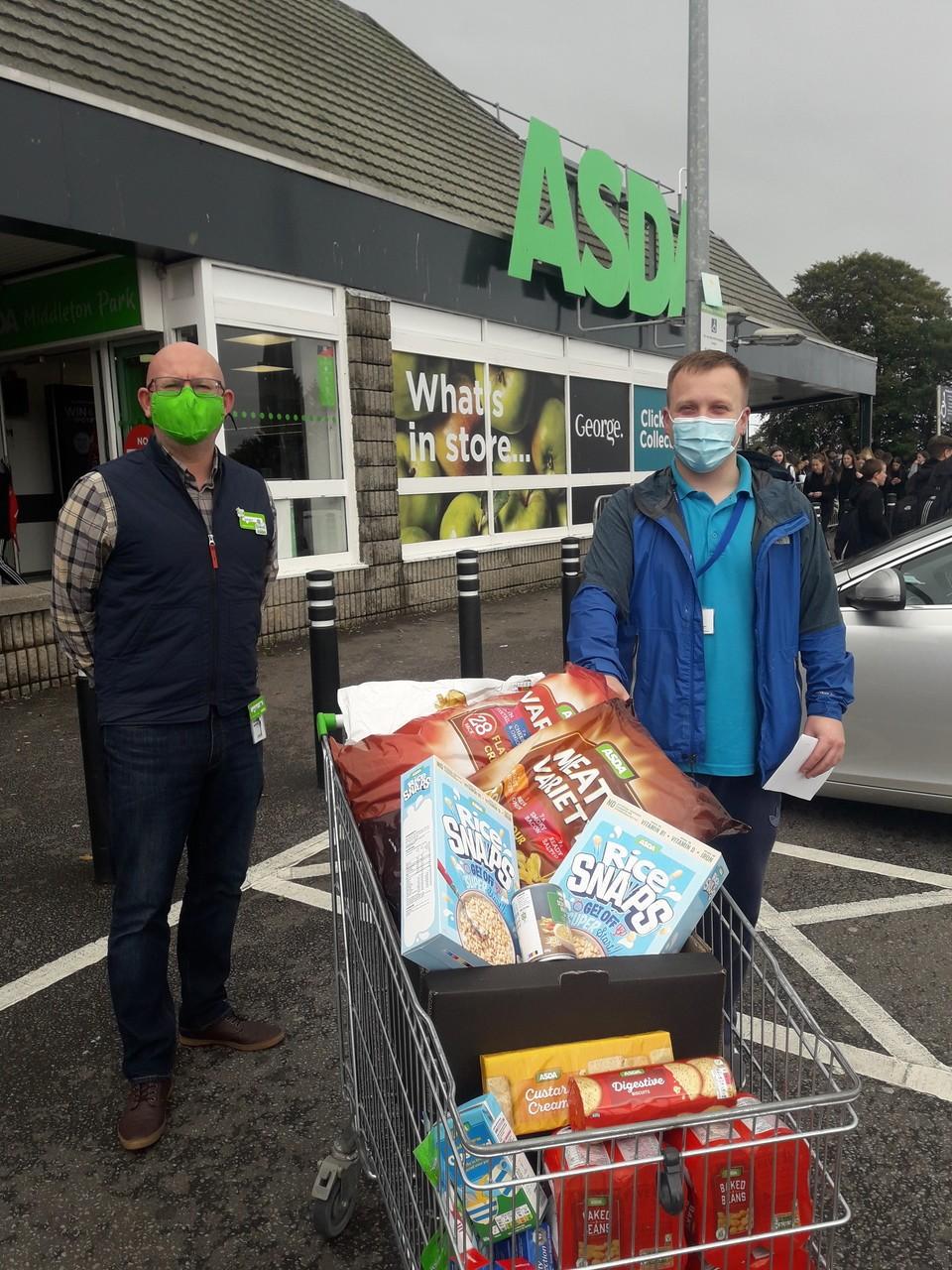 Foodbank donation | Asda Middleton Park
