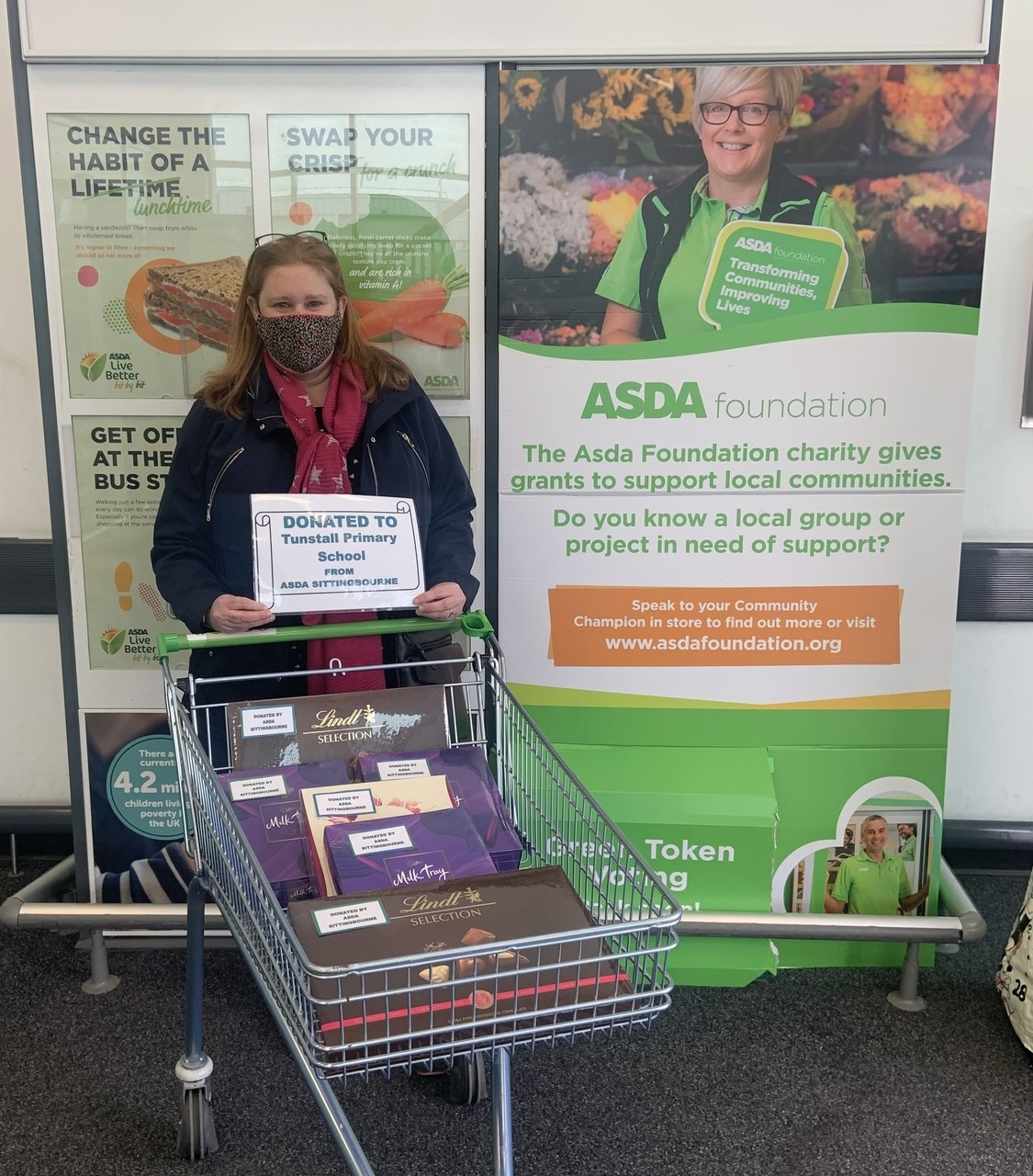 Tunstall School donation | Asda Sittingbourne