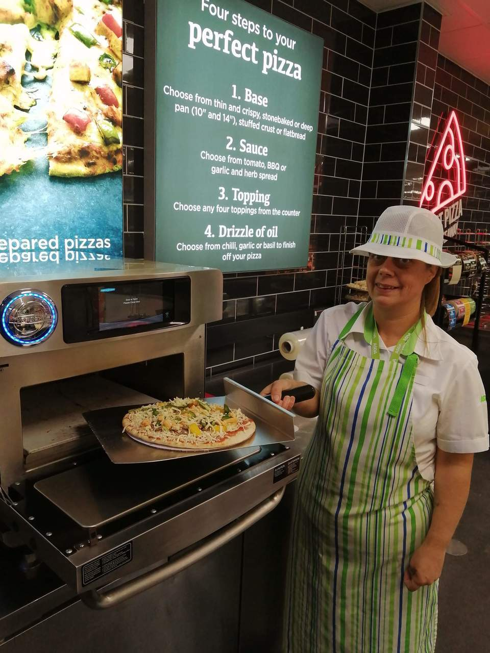 Hot pizza available in store | Asda Elgin