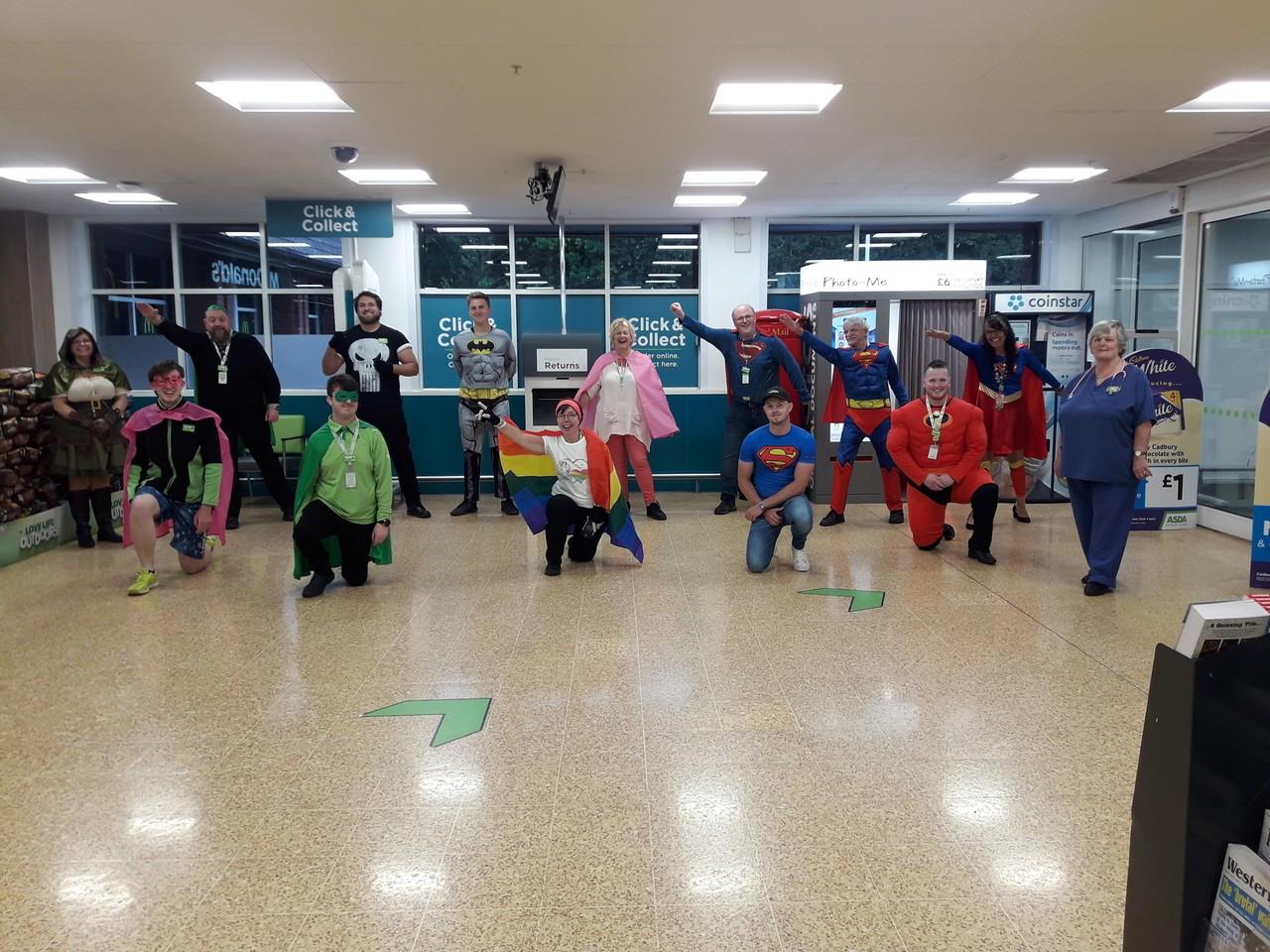 Heroes dress up.. as heroes! | Asda Taunton