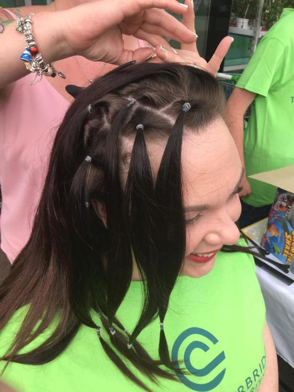 Brave Jo has head shaved for charity