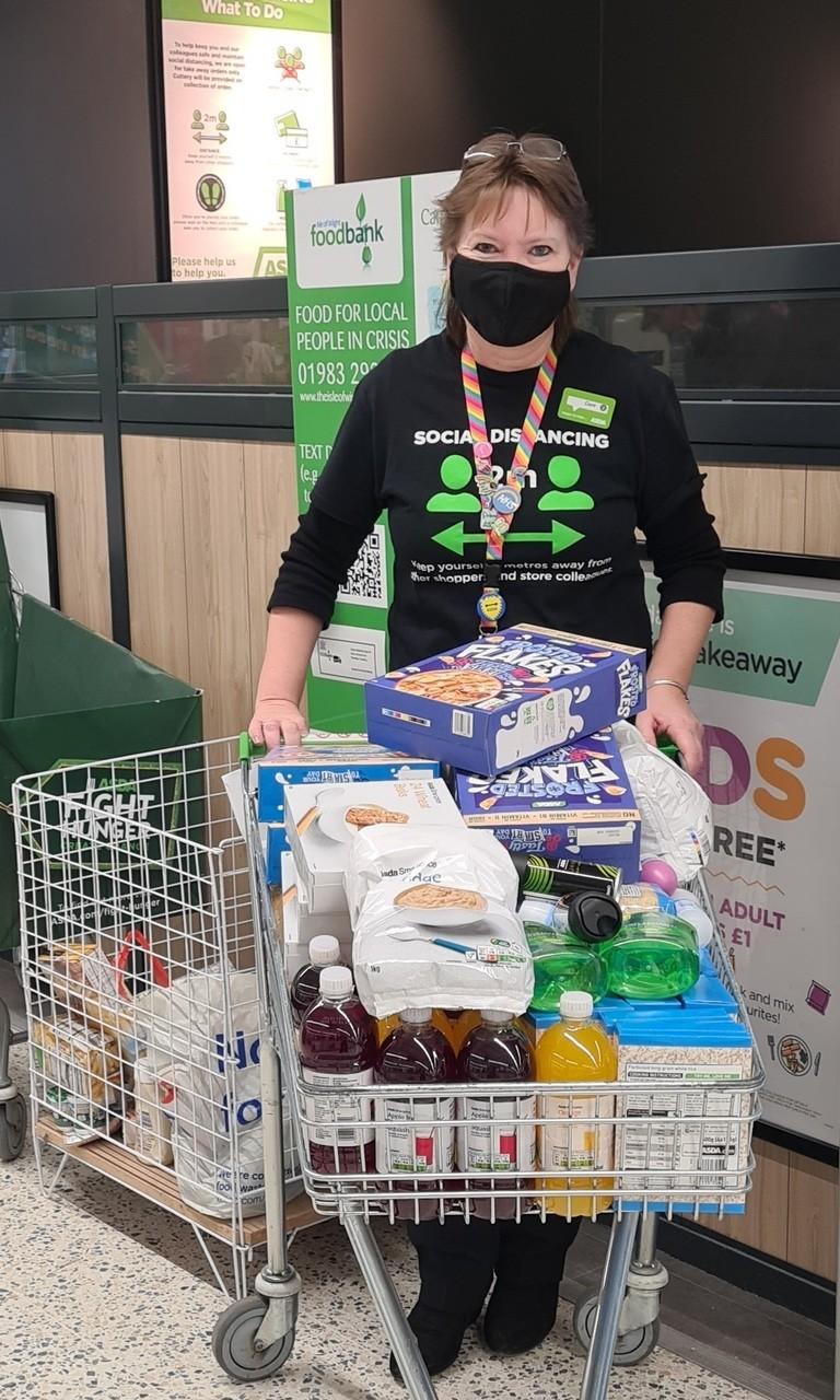 Foodbank raffle | Asda Newport Isle of Wight