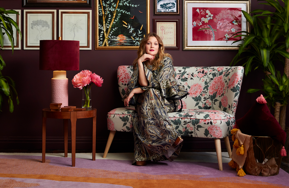 Drew Barrymore showcases items from her new Flower Home collection
