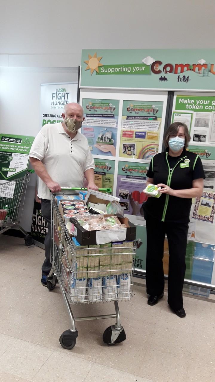 St Mary's Church Foodbank donation | Asda Darlington
