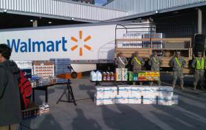Walmart provides supplies after Hurricane Sandy