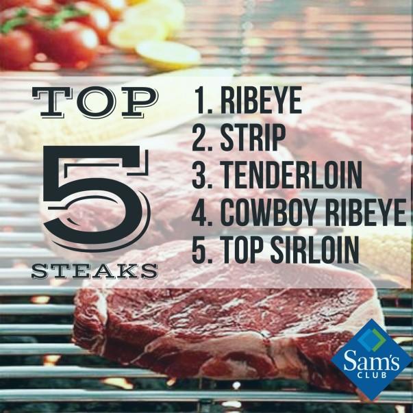 list of top 5 steaks