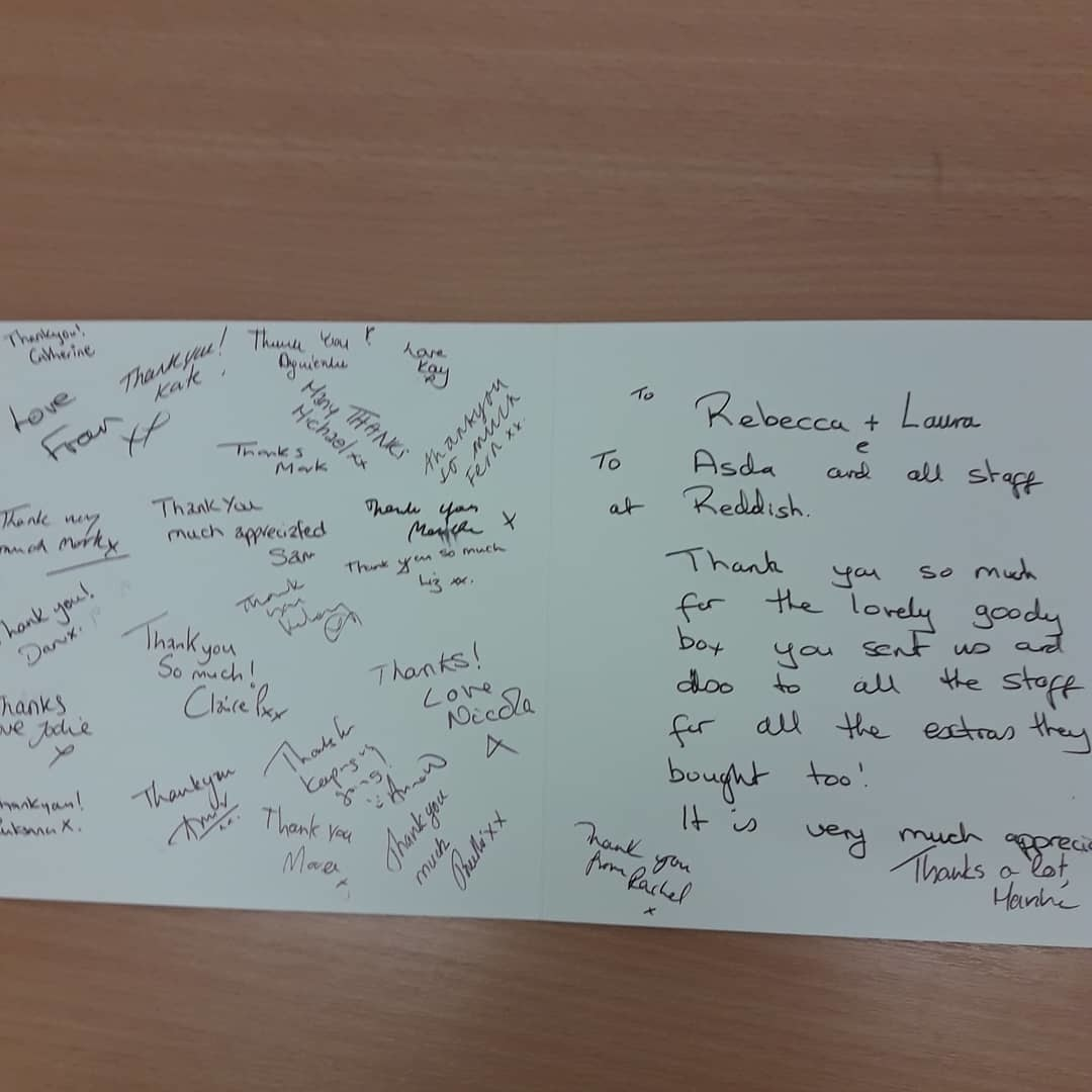 NHS SUPPORT AND THANK YOU | Asda Reddish