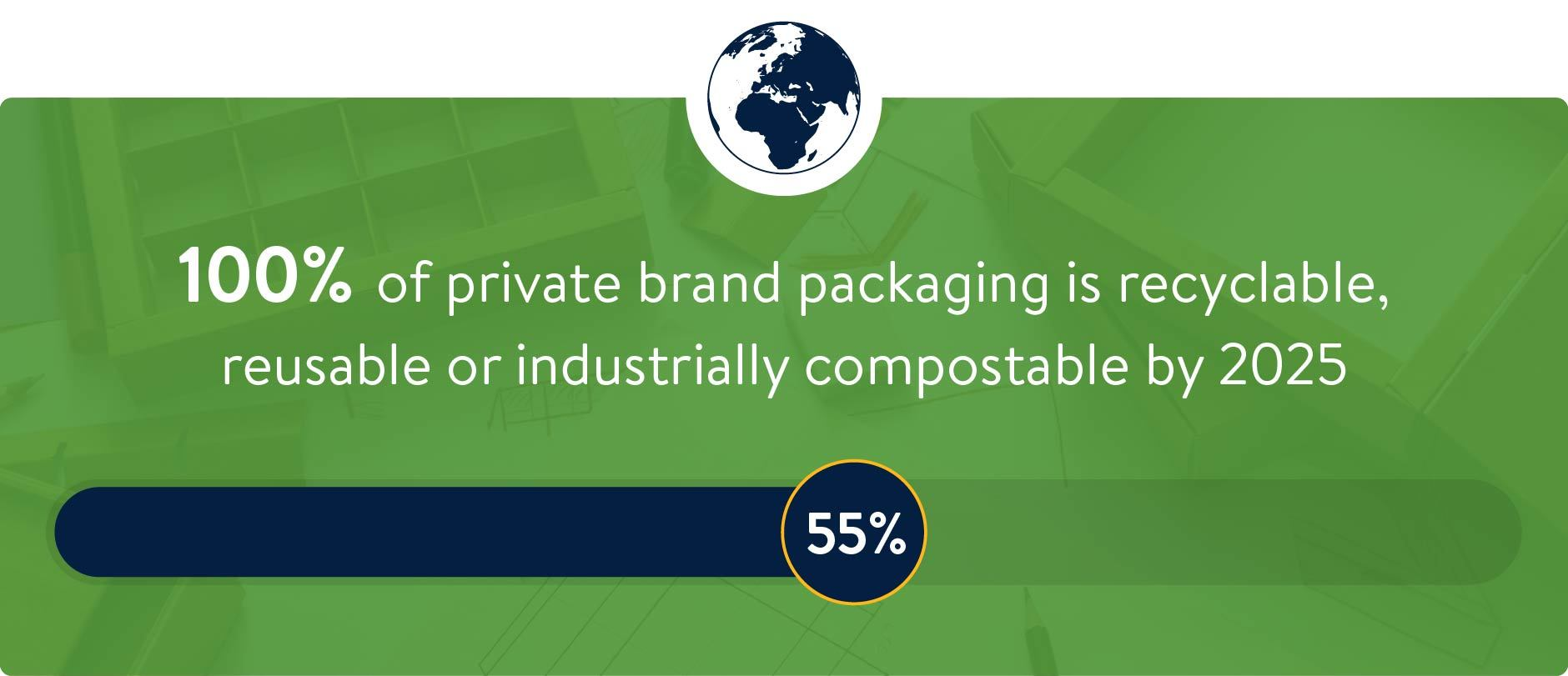 Sustainable Packaging Progress Graphic