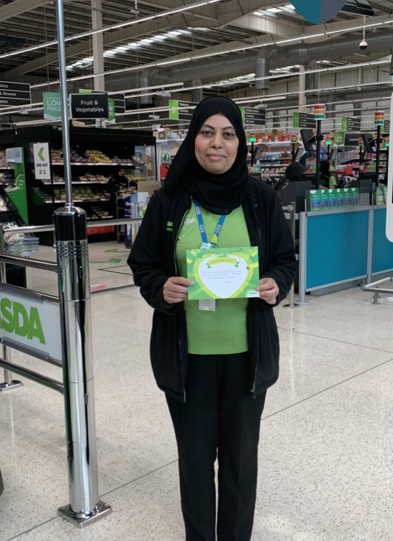 Thank you to hard-working colleague Shazia  | Asda Dewsbury