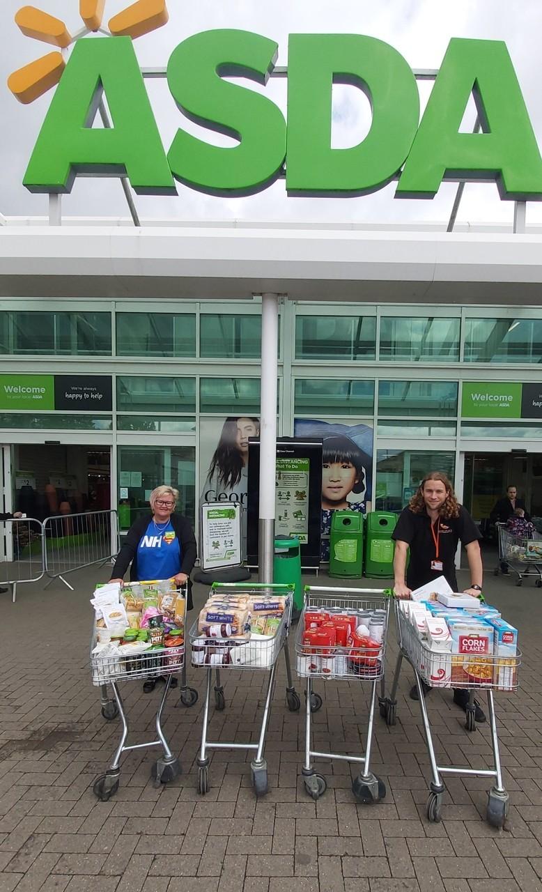 Donating to help homeless | Asda Donnington Wood