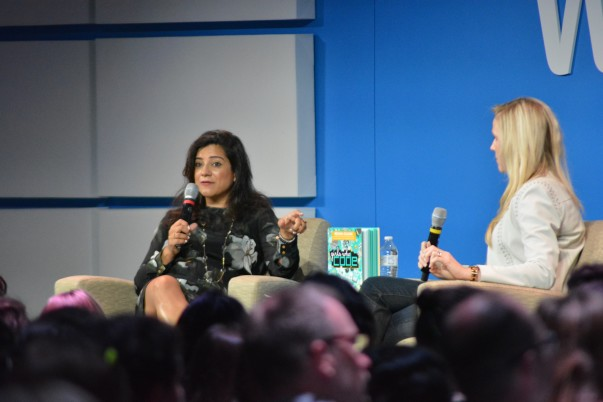 Reshma Saujani at the Girls Who Code event at Walmart