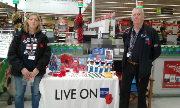 Poppy Appeal at Asda Pudsey