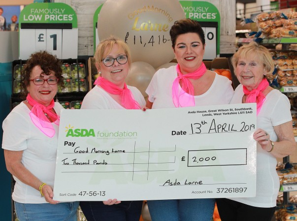 Asda Larne colleagues supporting Good Morning Larne