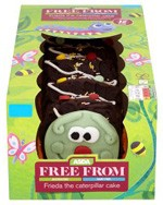 Asda Frieda the Free From Caterpillar Cake