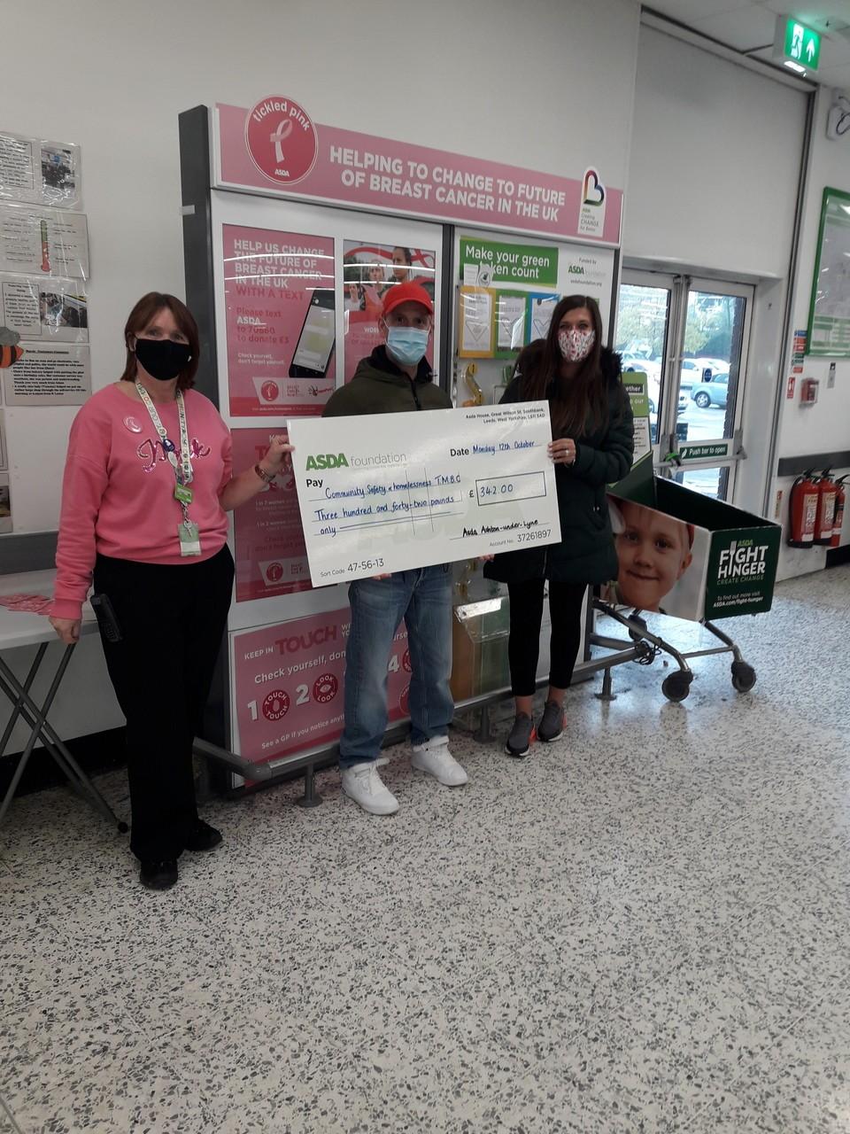 Asda Ashton Hygiene grant for the Town House | Asda Ashton