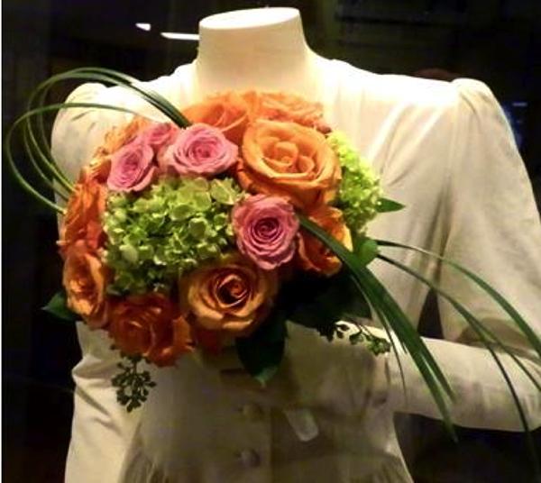Flowers with Helen Walton's Wedding Dress