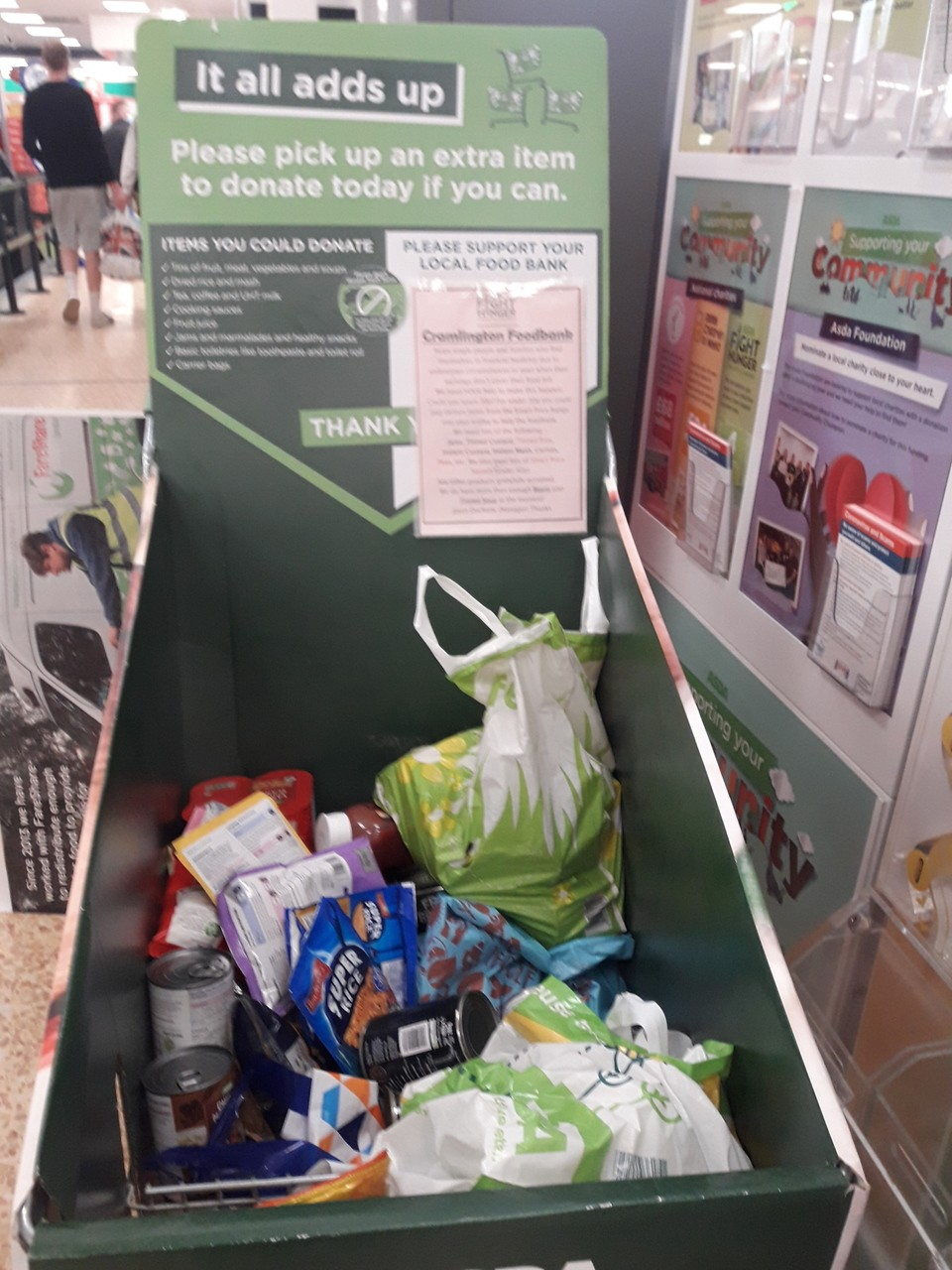 Cramlington Foodbank support | Asda Cramlington