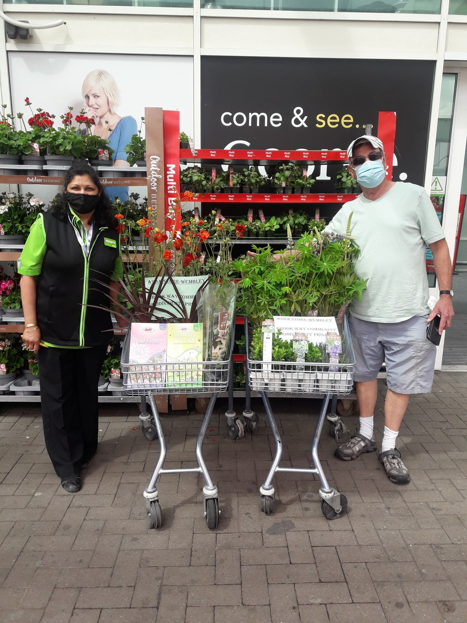 Donation for green project | Asda Wembley