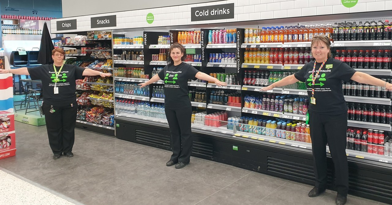 Loving the new social distance T-shirts | Asda Newport Isle of Wight