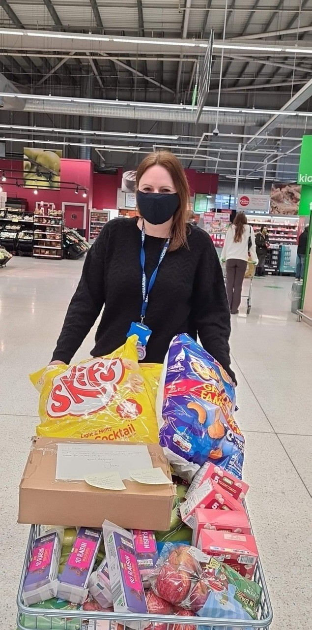 Supporting Seven Fields School with a donation of snacks and activity books | Asda Swindon Haydon