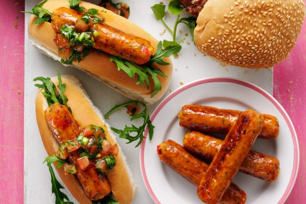 Vegan Red Pepper and Sweet Potato Sausages