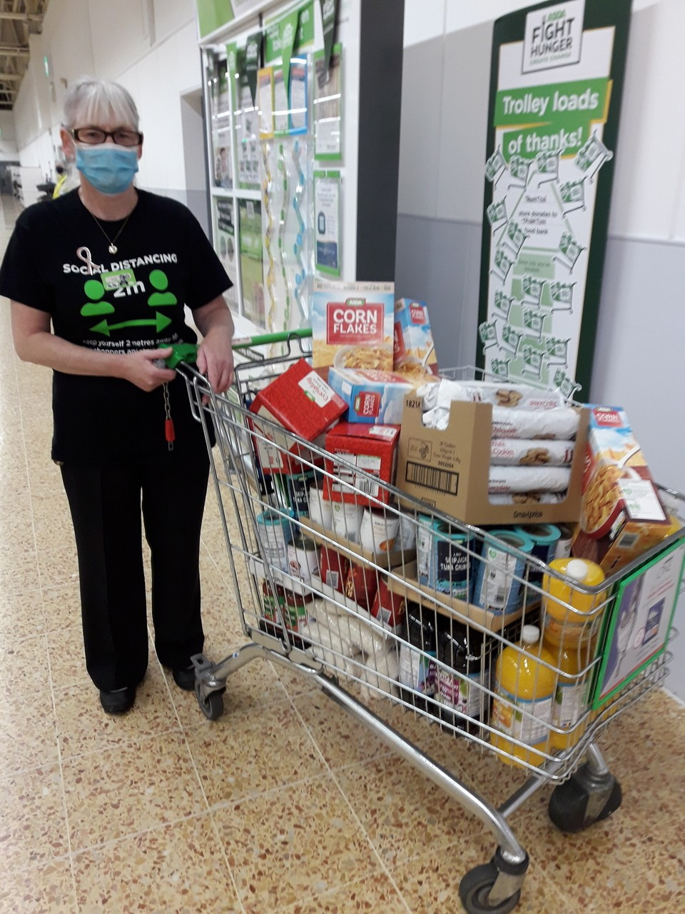 Another trolley of food for our local foodbank | Asda Taunton