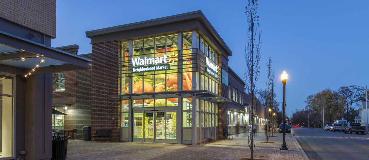 Exterior of a Walmart Neighborhood Market