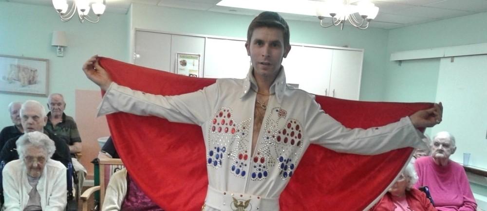 Elvis impersonator Jason Phillips from Asda Basingstoke