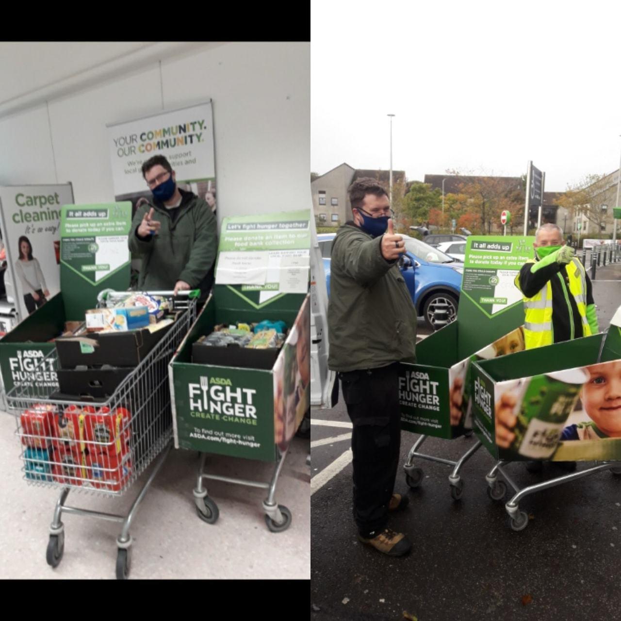 Fight Hunger donation to CFINE foodbank | Asda Middleton Park
