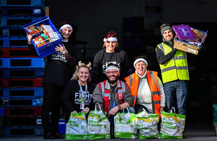 Asda hosted an event to thank volunteers from FareShare and The Trussell Trust for helping people this Christmas