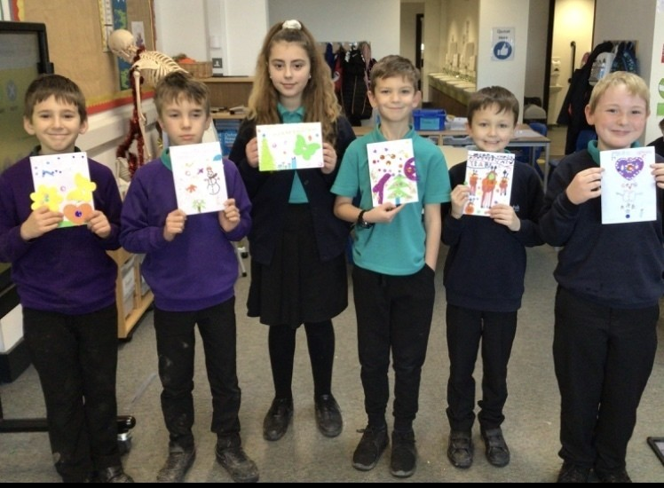 Christmas cards made by pupils | Asda Longwell Green
