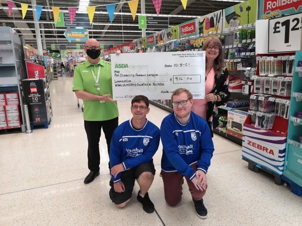 Asda Foundation grant for East Midlands PAN Disability Football League from Asda Long Eaton