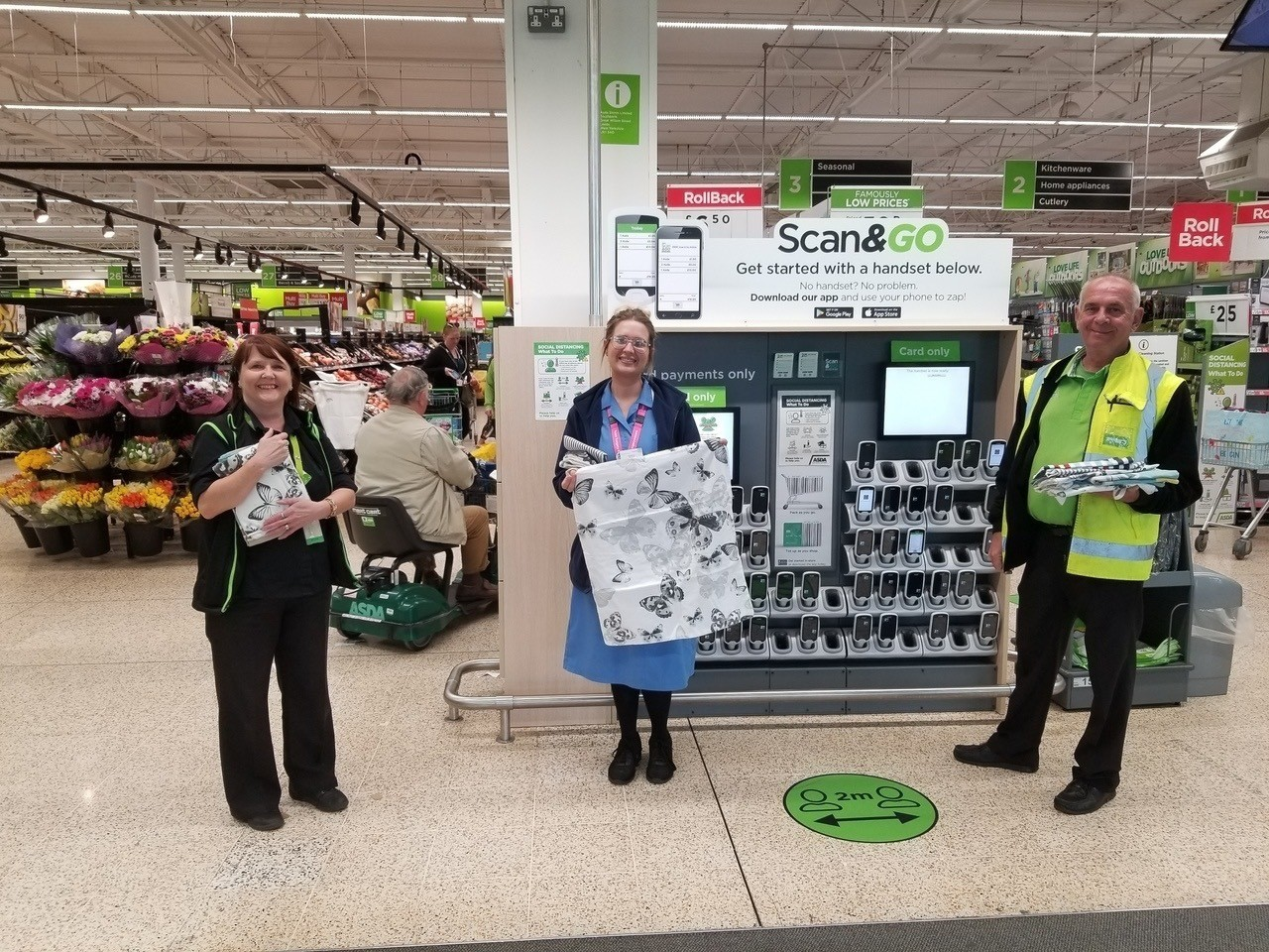 Twins from Asda Plymouth make scrubs for NHS while self-isolating | Asda Plymouth