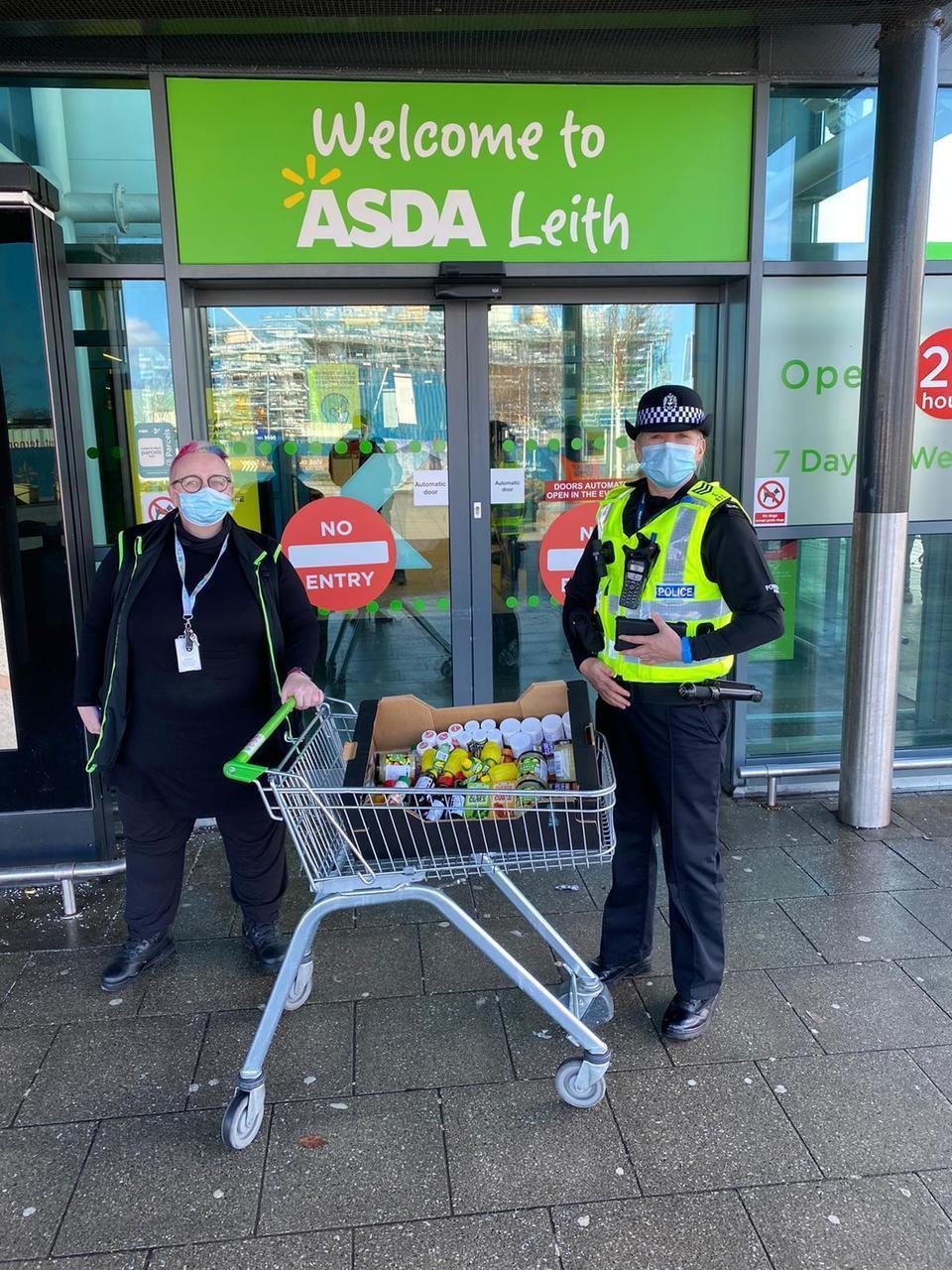 Community police campaign   Asda Leith